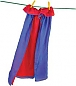 Reversible Silk Cape Red/Royal Blue